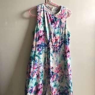 The Tinsel Rack Floral Watercolour Maxi Dress