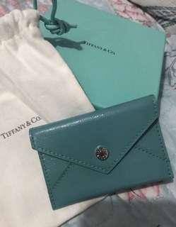 Tiffany Authentic blue envelope card case