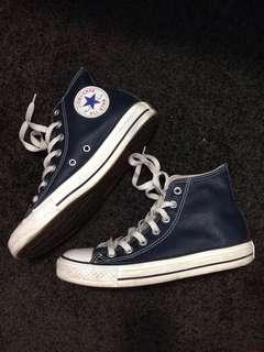 Converse Blue Leather hightop
