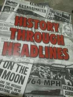 History through headlines hardbound coffee table