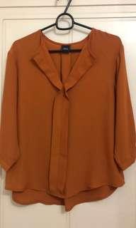 BNWOT IORA Brick colour blouse