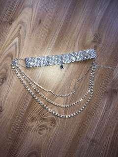 Diamanté choker