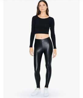 American Apparel Vegan Leather Leggings