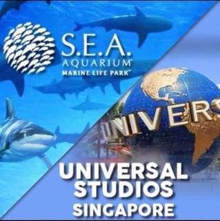 Immed issue Cheapest : Sentosa USS Universal Studio Sea Aquarium Adventure Cove attractions SIngapore Zoo Safari