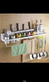 Rak dinding dapur aluminium serbaguna