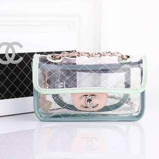 NEW Pastel Pvc Transparent bag