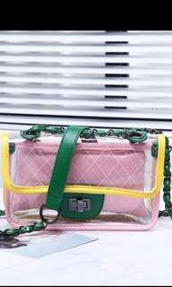 NEW Neon Transparent jelly bag