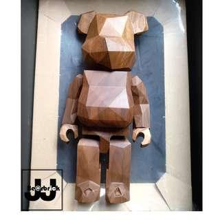 Medicom Bearbrick x Fragment Design Wood 400% 木 wooden fragmentdesign HF brown (not kaws bff supreme)