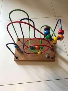 Like New Kid's Toddler Smart Frames Classic Toy Bead Maze Wire Wooden