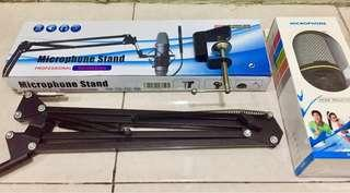 Stand Mic Jepit & Mic Condenser SF-920
