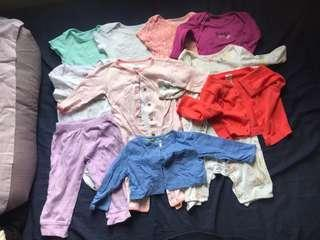 10 Baby Clothes bundle sale 3-9M