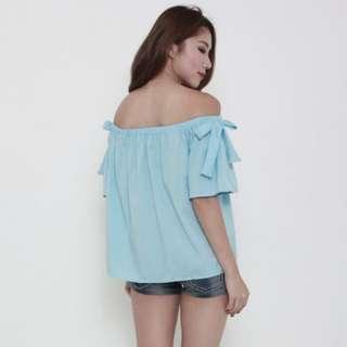 🚚 Blue Off Shoulder Top