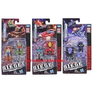 [Pre-Order] Hasbro Takara Tomy TF Siege War For Cybertron WFC Micromaster Wave 1 (set of 3)