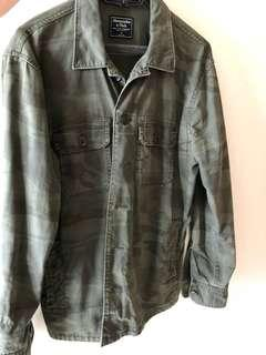 Abercrombie army camo jacket size small