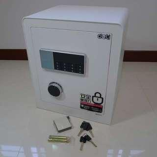 Brand New 23KG 45cm 2 tier electronic safe with key PIN lock and bolt holes -Ivory White Color