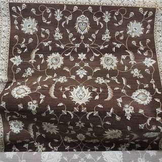 Brown design carpet