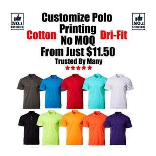 Customize Polo Tee Printing
