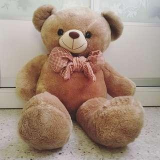 Readystock brown big teddy bear 86cm for birthday surprise gift