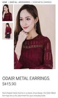 Ohvola Odair Metal Earrings in Silver
