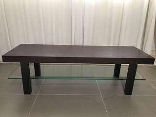 Solid Wood Long Coffee Table / Wooden TV Stand