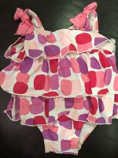 Baby Pink Checkers Swimming suit (from 6-12mths)