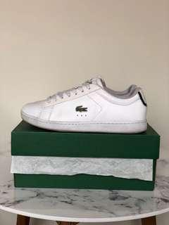 Lacoste white leather shoes