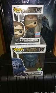 [SALE] (ON HAND) Beric Dondarrion & Giant Wight Game of Thrones Funko Pop Bundle