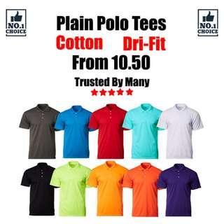 Plain Polo Tees