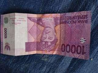 Uang sepuluh ribu rupiah asli tahun 2009