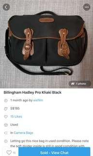 billingham hadley pro black