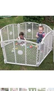 Honeycomb Play Yard Fence Gate Controlled Area Indoor and Outdoor For Kids Pets Dogs Cats Play Pen