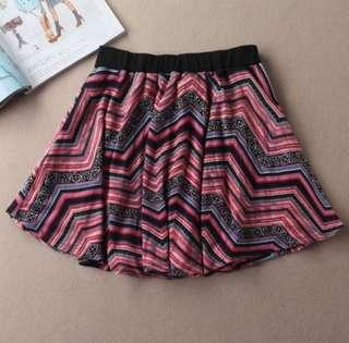 🚚 Pink Aztec Circle Skirt