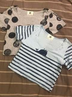 99 peso sale Lot of two Crop tops from bangkok