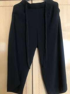 Zara black culottes L