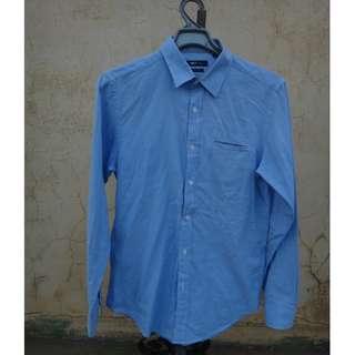🚚 正品 NET 水藍色 長袖襯衫 size: M