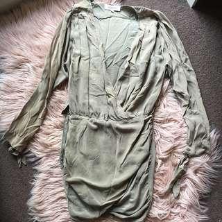 Maurie & Eve Khaki Green Dress   Size XS