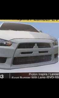 Proton Inspira and Mitsubishi Lancer EVO 10 bumper