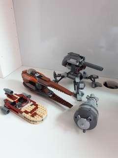 Lego star wars assorted vehicles bundle