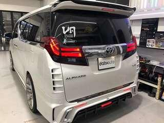 Customize tail light installed for this handsome toyota Alphard!  Have yours done today!  Enquiries call or whatsapp us 8270 0007  #quality #custom #datsauto