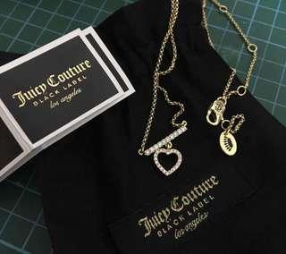 Authentic juicy couture black label necklace
