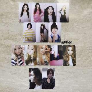 [INSTOCK!] f(x)/Red Velvet/SNSD/Oh My Girl Album PCs.