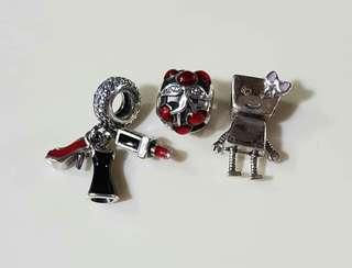 SALE! AUTHENTIC PANDORA CHARMS W BOX, POUCH AND PAPERBAG