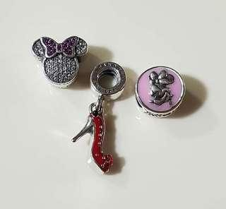 SALE! AUTHENTIC PANDORA CHARMS WITH BOX, POUCH AND PAPERBAG