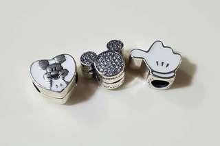 SALE! ALL FOR 2700!  AUTHENTIC PANDORA CHARMS WITH BOX, POUCH AND PAPERBAG