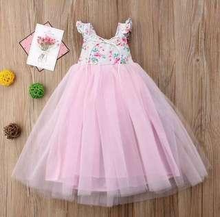 BN Brand New Princess Girl Bridesmaid Bride Maid Wedding Flower Dress Lace