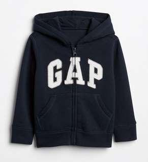 🚚 BN GAP Toddler Boy Logo Hoodie Jacket Navy 4T! For 4 years old!