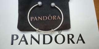 PANDORA silver open bangle