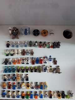 Lego minifigures assorted starwars,series,alien
