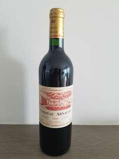 法國波爾多紅酒AOC中級庄 CHATEAU ARNAULD 2000年