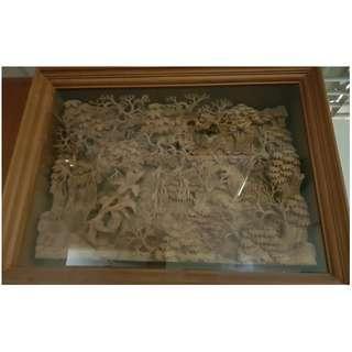 Indonesia Teak wood hand craft with teak wood frame